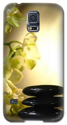 Stone Cairn And Orchids Galaxy S5 Case