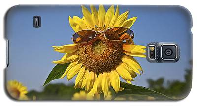 Sunflower With Sunglasses Galaxy S5 Case