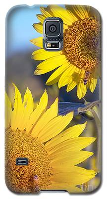Sunflowers And Bees Galaxy S5 Case