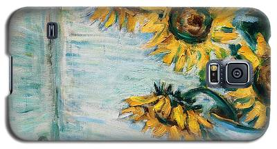 Sunflowers And Frog Galaxy S5 Case