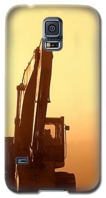Sunset Excavator Galaxy S5 Case