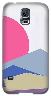 Sunset Nature Minimalistic Landscape Galaxy S5 Case
