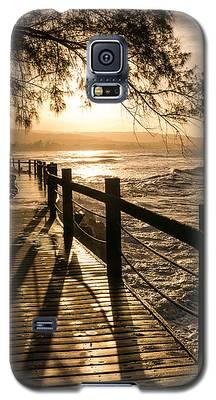 Sunset Over Ocean Walkway Galaxy S5 Case