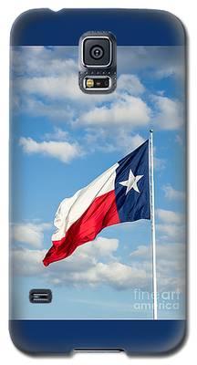 Texas State Flag Waving Galaxy S5 Case