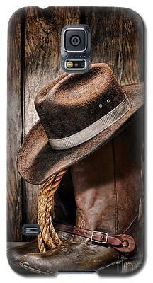 Vintage Cowboy Boots Galaxy S5 Case