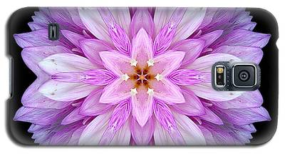 Violet Dahlia I Flower Mandala Galaxy S5 Case