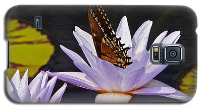 Water Lily And Swallowtail Butterfly Galaxy S5 Case