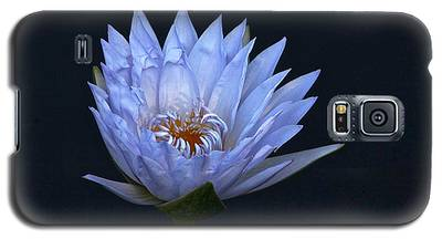 Water Lily Shades Of Blue And Lavender Galaxy S5 Case