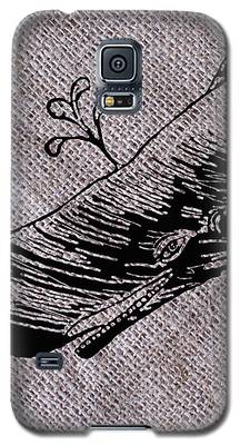 Whale On Burlap Galaxy S5 Case