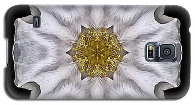 White Beach Rose I Flower Mandala Galaxy S5 Case