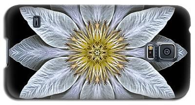 White Clematis Flower Mandala Galaxy S5 Case