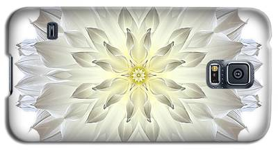 Giant White Dahlia I Flower Mandala White Galaxy S5 Case