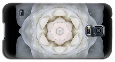 White Rose I Flower Mandala Galaxy S5 Case