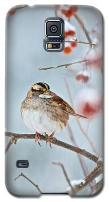 White-throated Sparrow Braving The Snow Galaxy S5 Case