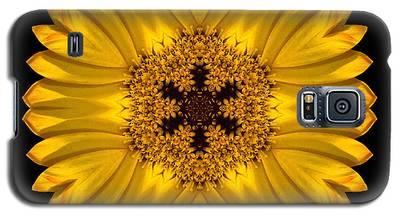 Yellow African Daisy Flower Mandala Galaxy S5 Case