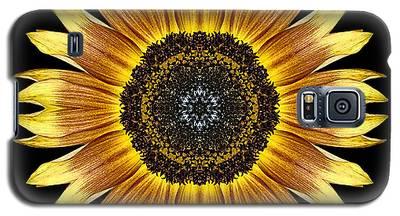 Yellow And Brown Sunflower Flower Mandala Galaxy S5 Case