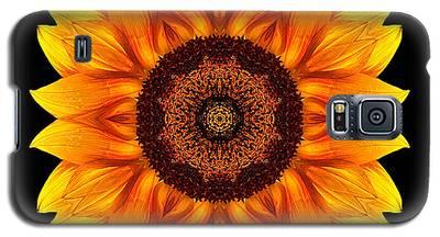 Yellow And Orange Sunflower Vi Flower Mandala Galaxy S5 Case