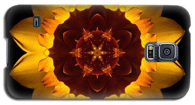 Yellow Daffodil I Flower Mandala Galaxy S5 Case