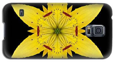 Yellow Lily I Flower Mandala Galaxy S5 Case