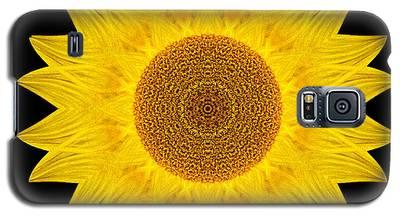 Yellow Sunflower Ix Flower Mandala Galaxy S5 Case