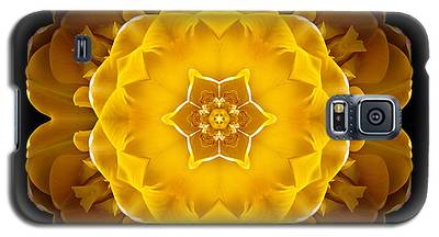 Yellow Tulip II Flower Mandala Galaxy S5 Case