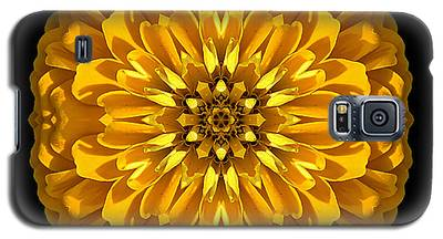Yellow Zinnia Elegans Flower Mandala Galaxy S5 Case