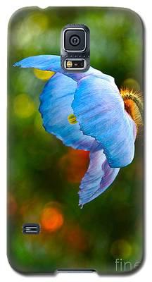 Blue Poppy Dreams Galaxy S5 Case