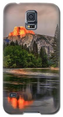 Golden Light On Halfdome Galaxy S5 Case