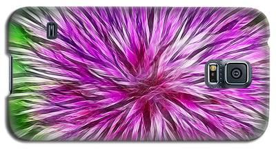 Purple Flower Fractal Galaxy S5 Case