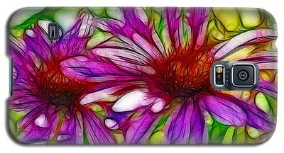 Two Purple Daisy's Fractal Galaxy S5 Case