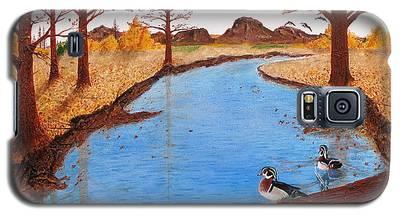 Wood Ducks On Jacobs' Creek Galaxy S5 Case
