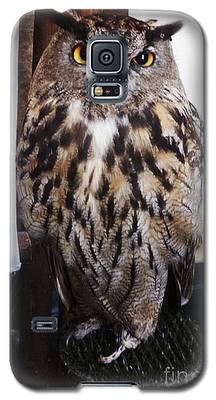 Yellow Owl Eyes Galaxy S5 Case