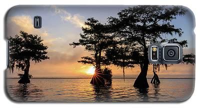 Blue Cypress Lake Morning Galaxy S5 Case