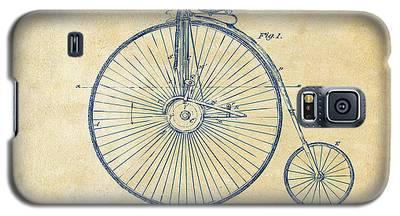 1881 Velocipede Bicycle Patent Artwork - Vintage Galaxy S5 Case