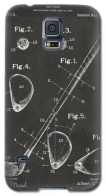 1910 Golf Club Patent Artwork - Gray Galaxy S5 Case