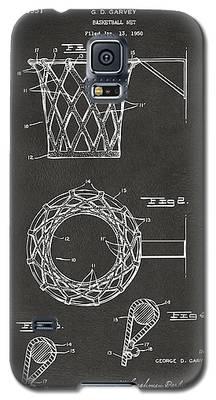1951 Basketball Net Patent Artwork - Gray Galaxy S5 Case