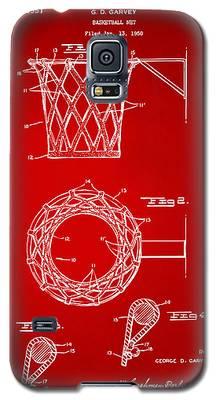 1951 Basketball Net Patent Artwork - Red Galaxy S5 Case