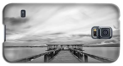 Melbourne Beach Pier Sunset Galaxy S5 Case
