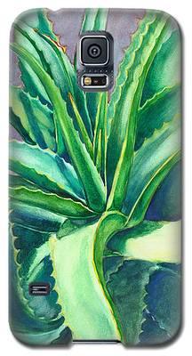 Aloe Vera Watercolor Galaxy S5 Case