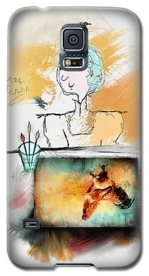 Mrs. Darwin's Theory Of Evolution Self Portrait  Galaxy S5 Case