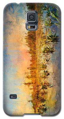 Sunset Over The Okefenokee Galaxy S5 Case