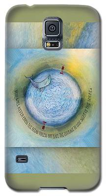 Courage To Lose Sight Of The Shore Orb Mini World Galaxy S5 Case