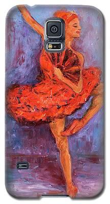 Ballerina Dancing With A Fan Galaxy S5 Case