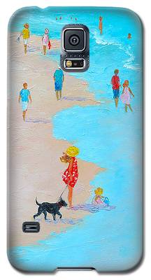 Beach Painting - Beach Day - By Jan Matson Galaxy S5 Case
