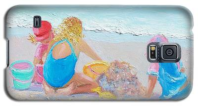 Beach Painting - Building Sandcastles Galaxy S5 Case