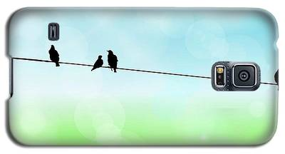 Birds Hanging Around Galaxy S5 Case