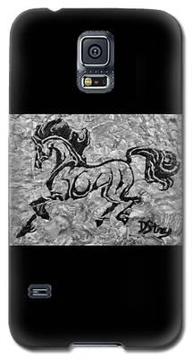 Black Jack Black And White Galaxy S5 Case