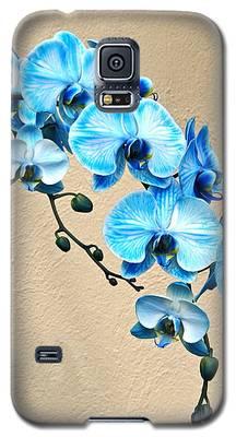Blue Mystique Orchid Galaxy S5 Case