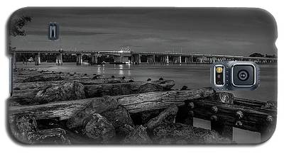 Bridge To Longboat Key In Bw Galaxy S5 Case