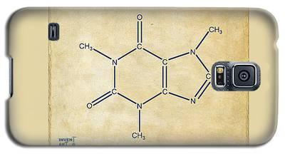 Caffeine Molecular Structure Vintage Galaxy S5 Case